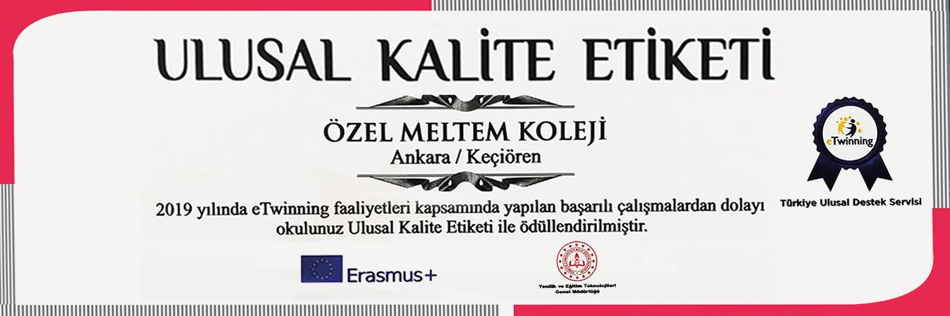 ULUSAL KALİTE BELGESİ